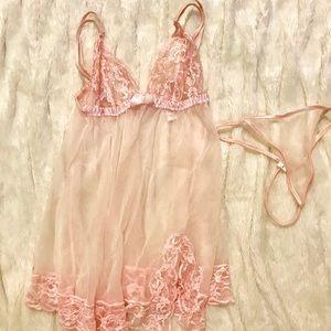 Beautiful sweet pink lingerie and panties